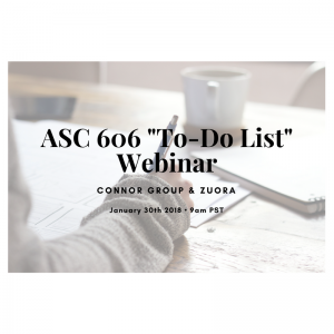 Webinar Now On-Demand: Is ASC 606 on your to-do list